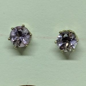 Jewelry - Vintage Sterling Silver Amethyst Stud Earrings